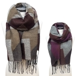 CS6105 Color Block Scarf