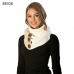 CS6107 Stripe Infinity Scarf With Button