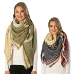 CS6108 Stripe Square Winter Scarf