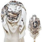 CS6112 Paisley Flower Pattern Soft Square Scarf