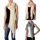 CS7001 Stripe with Solid Base Scarf
