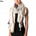 CS7004 Stripe with Color Accent Scarf