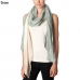 CS7005 Delicate Stripe Accent Tri-toned Scarf