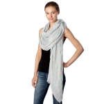 CS7007 Eiffel Towel and Dots Scarf, Blue