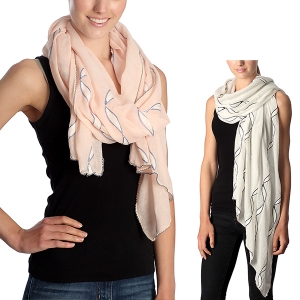 CS7010 Wave Pattern Scarf