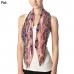 CS7021 Floral Pattern Skinny Scarf