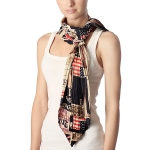 CS7022 American & England Flag Mixed Skinny Scarf