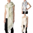 CS7028 Brushed Tie-Dye Check Pattern Scarf