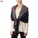 CS7031 Mid Aztec Lined Oblong Scarf with Tassel