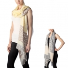 CS7034 Tri-toned Leopard Scarf with Fringe