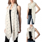 CS7035 Polka Dots Oblong Scarf