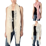 CS7036 Lace Edged Oblong Scarf