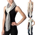 CS7040 Color-block Striped Scarf