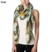 CS7042 Floral Art Print Oblong Scarf