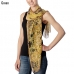 CS7050 Abstract Square Pattern Chiffon Scarf