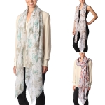 CS7053 Butterfly Floral Print Scarf