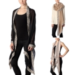 CS7055 Leopard Edge Accented Oblong Scarf
