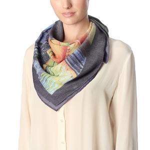 CS7058 SOHO NIGHT SCENERY SQUARE SCARF