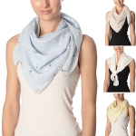 CS7059 Mini Anchor Embroidered Scarf