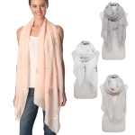 CS7062 Starfish Embroidered Oblong Scarf