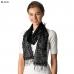CS7063 Mixed Pattern Crochet Scarf w/ Fringe