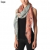 CS7065 Abstract Leaves Tri-toned Print Scarf