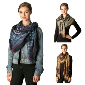 CS7203 Mixed Pattern Square Scarf