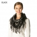 CS7205 Plaid Infinity Scarf W/ Fringe