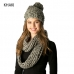 CS7206 Knitted Woven Infinity Scarf
