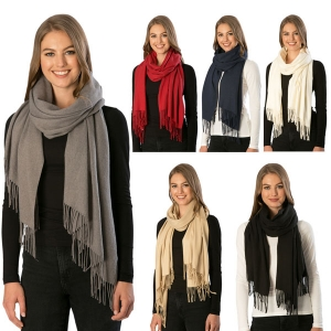 CS7211  Cashmere Feel Solid Oblong Scarf