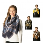 CS7220 Plaid Pattern Square Scarf