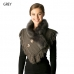 CS7221 Knitted Neckwarmer Faux Fur Collar