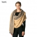 CS7224 Half Striped Accent Oblong Scarf