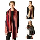 CS7225 Mid Line Solid Oblong Scarf
