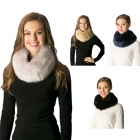 CS7227 Faux Fur Infinity Collar W/ Magnetic Lock