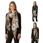 CS7239 Illustrated Dream Catcher Pattern Scarf