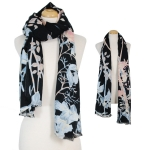 CS7262 Mixed Floral Pattern Oblong Scarf