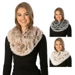 CS7268 Shaggy Faux Fur Infinity Scarf