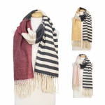 CS7270 Half Stripe Oblong Scarf
