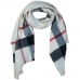 CS7271 Pleated Check Pattern Scarf