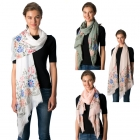 CS8307 Floral Embroidery with Pearl Scarf