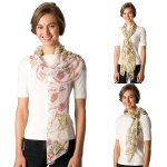 CS8320 Chiffon Light Weight Scarf - Chain Pattern
