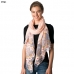 CS8330 Flower Embroidery Mesh End Scarf