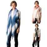 CS8333 Tie Dye Stripe Tassel Scarf