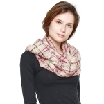 CS8401 Plaid Infinity Scarf, Pink