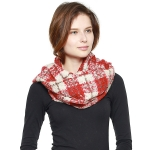CS8401 Plaid Infinity Scarf, Red