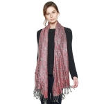 CS8402 Multi Paisley Patterned Pashmina, Coffee