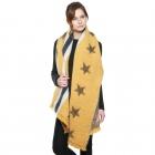 CS8411 Stars & Stripe Oversized Scarf, Mustard