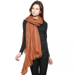 CS8422 Wool Blend Stitch Lined Long Scarf, Mustard