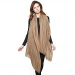 CS8422 Wool Blend Stitch Lined Long Scarf, Taupe